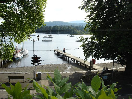 Waterhead Hotel: view from balcony room 16