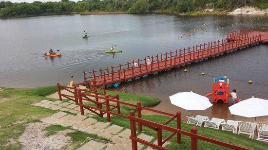 Sauipe Resorts: Pedalinhos, pescaria, tirolesa e caiaques.