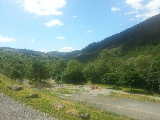 Afan Lodge: View from room with cute little pump track!
