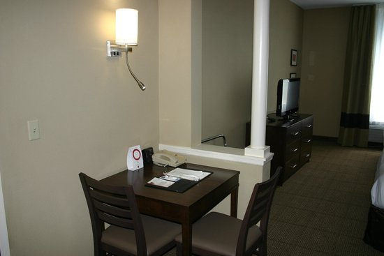 Comfort Suites at the Isle of Palms Connector : Activity Tables in All Rooms With Two Queen Beds