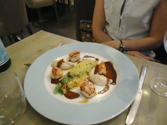 Restaurant Le M : noix de saint jacques