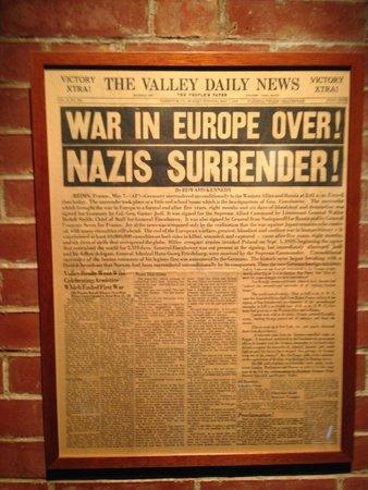 Museum of the Surrender: jornal da época