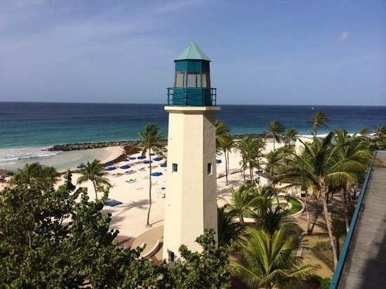 Hilton Barbados Resort: View from our balcony at the Hilton Barbados
