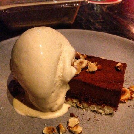 "Tar and Roses: ""tar"" bar with LA creamery salted caramel ice cream"
