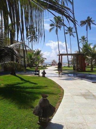 Porto de Galinhas Praia Hotel: Entre recepção e piscina