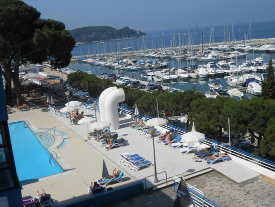 Hotel Park: View of the Hotel pool and Marina from our room