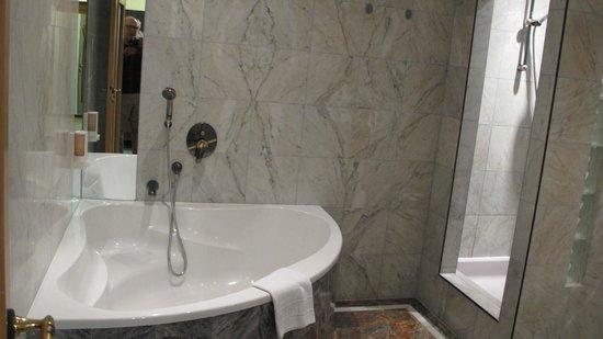 Altwienerhof: Baño muy amplio con WC separado