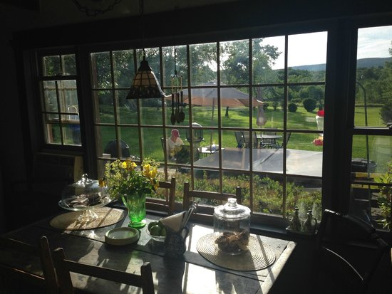 Audrey's Farmhouse Bed & Breakfast: View from kitchen