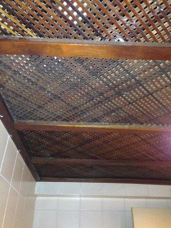 """Royalty Copacabana Hotel: Teto do banheiro se """"comunica"""" com o banheiro da suíte ao lado..."""