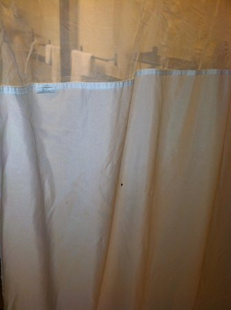 Drury Inn & Suites Las Cruces: Shower curtain with bloody mucus