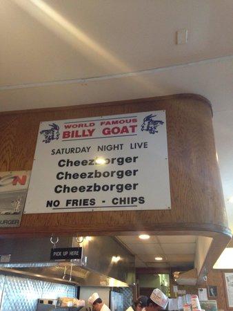 Billy Goat Tavern: Cheezborger