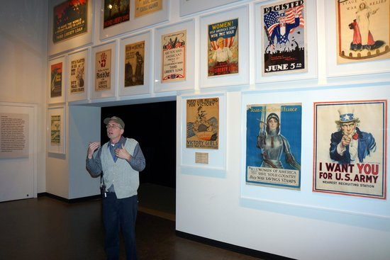 National World War I Museum and Memorial : An archivist spoke about a special exhibit of posters.