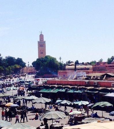 Terrace view  Cafe de France Marrakech