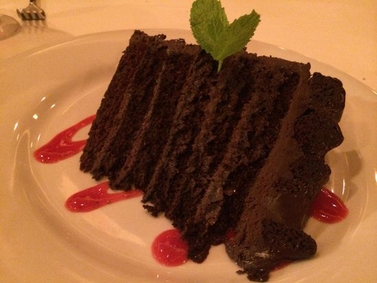 Opus Bistro: Cake split four ways