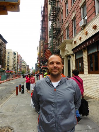Lower East Side History Project Walking Tours: Eric in Little Italy with his Uncles restaurant