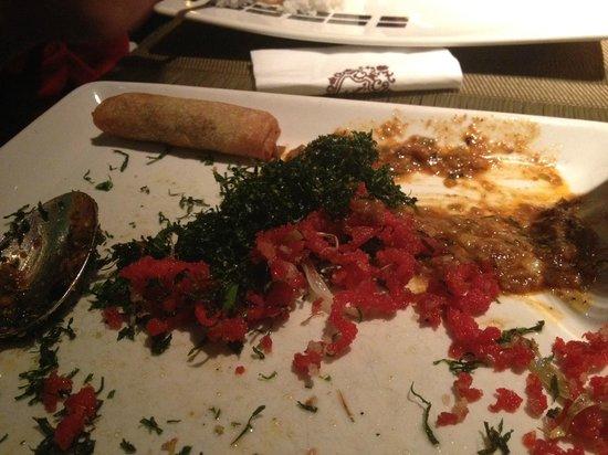 Toki : Great Appetizer Sampler Platter  (or what's left of it)