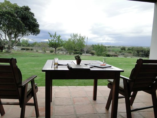 Mooiplaas Guesthouse : viewfrom terrace over the Klein Karoo