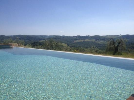 Fattoria e Villa di Rignana: view from the infinity pool - so peaceful!