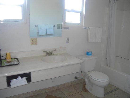 Bristlecone Manor Motel: Grande salle de bain