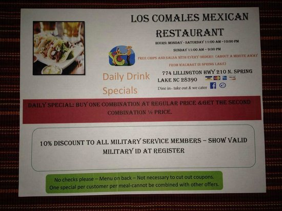 Los Comales Mexican Restaurant : LOS COMALES IS THE BEST MEXICAN RESTAURAUNT IN NC
