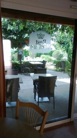 Best Western Aurelia : Terras - breakfast area