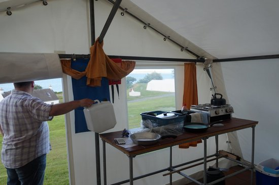 Shieling Holidays: The cooking area