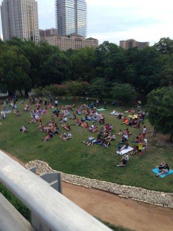 Congress Avenue Bridge / Austin Bats: Big crowds
