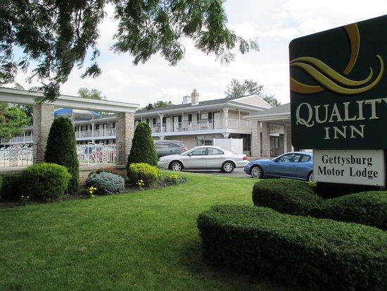 Quality Inn Gettysburg Battlefield: Quality Inn Motor Lodge.