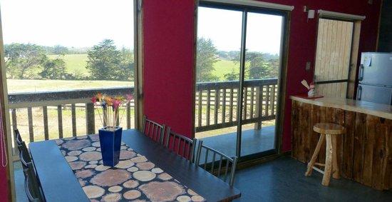 Waiwen Cabanas: Vista desde el comedor.