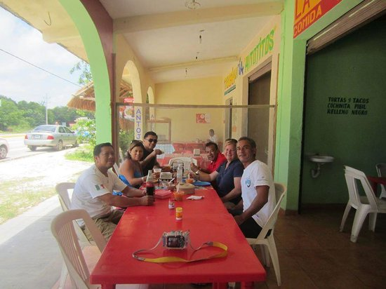 Edventure Tours: Having a great lunch with our new friends and tour guide Nelson and driver Jorge.