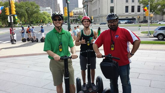 Philadelphia Segway Tours by Wheel Fun Rentals: Hubby, smilin' nephew, and Adam our guide...
