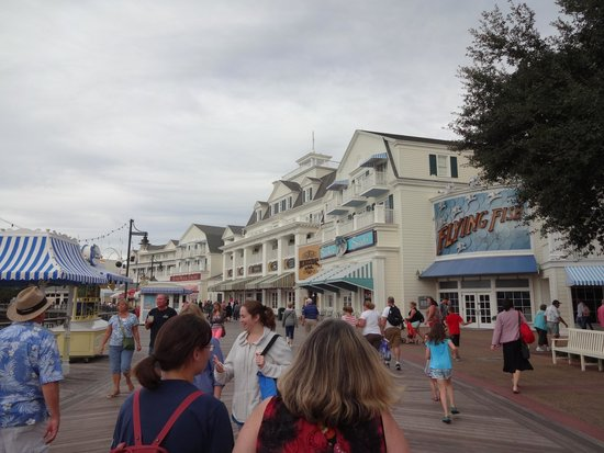 Disney's Boardwalk: View after you get off the boat
