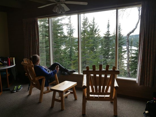 Rock Harbor Lodge: Housekeeping cabin 204 - that amazing view