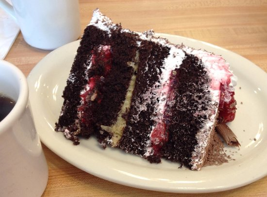 Charlie's Cafe: Black Forest Cake on German night every Wednesday