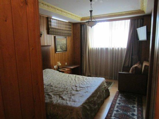 Ferman Sultan Hotel: Chambre sombre et vieillotte