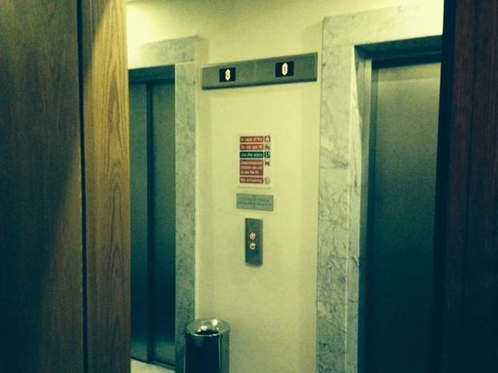 Hotel Fortina: how close the lifts were to our room (1200mm)