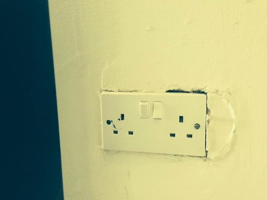 Hotel Fortina : throughout the Hotel socket were like this