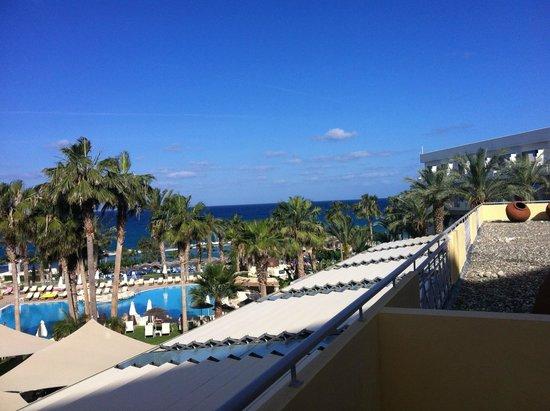 Hotel St. George: uitzicht terras