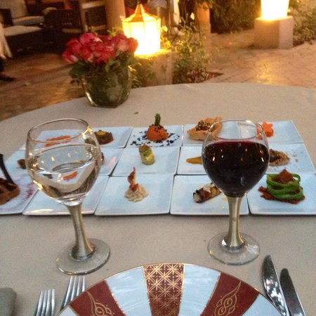 Restaurant Dar Rhizlane : Entrées du Menu du Soir