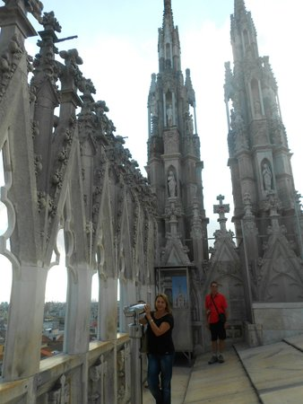 Catedral (Duomo): Terraço do Duomo de Milão
