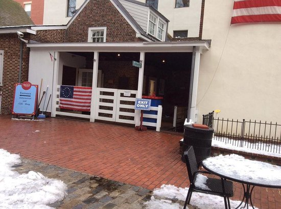 Betsy Ross House: a lateral da casa