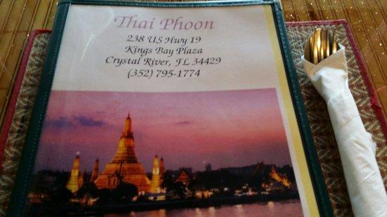 Thai Phoon : Menu