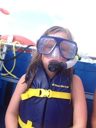 Panama City Beach Dolphin Tours & More: My 6 year old loving the tour!!!