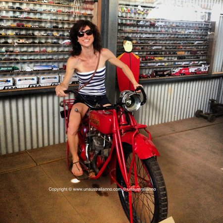 Road Transport Hall of Fame : Laura on the motorbike