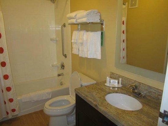 TownePlace Suites Las Vegas Henderson: Loved this bathroom.  Wood-type flooring - so clean
