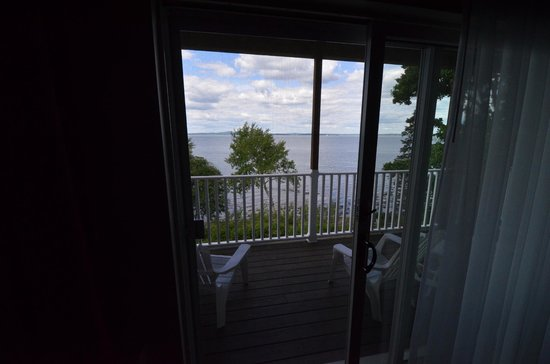 The Bayview: Inside our room looking out