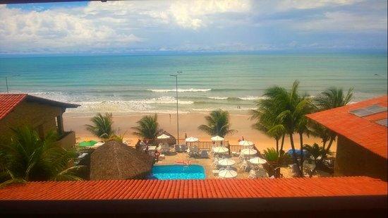 Visual Praia Hotel: Vista do quarto... Não tem como acordar e ficar chateado!