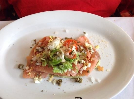 Le Bistrot : smoked salmon appertizer