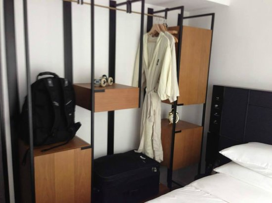 Residence G Hong Kong (by Hotel G): Stylish shelving to maximize the space.
