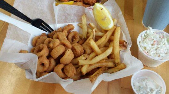 Rebecca's Seafood Takeout: Calamari dinner